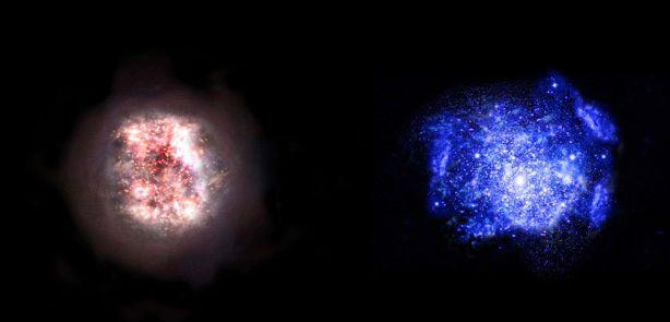 Astrónomos desentierran galaxias en el amanecer del tiempo