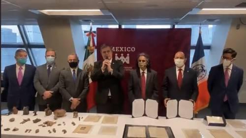 Recuperan en EU carta de Hernán Cortés robada del Archivo General de la Nación