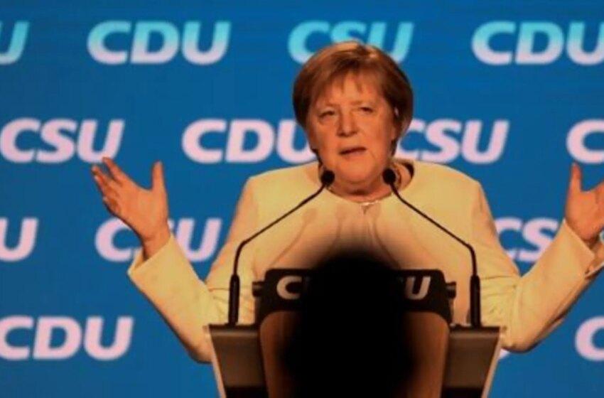 Merkel apoya con fuerza a Laschet, en víspera de unas elecciones alemanas donde todo es posible