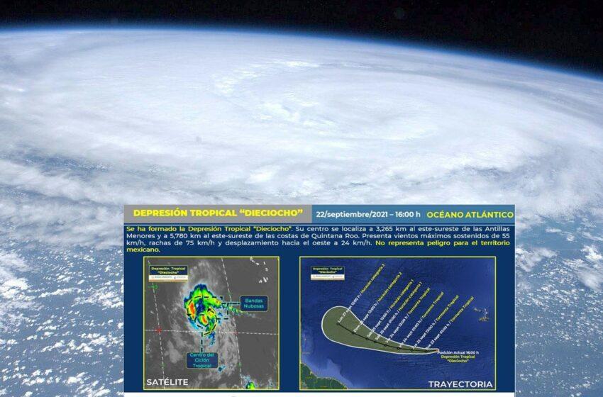 Alertan por depresión tropical Dieciocho: cuál es su trayectoria – Big Fish