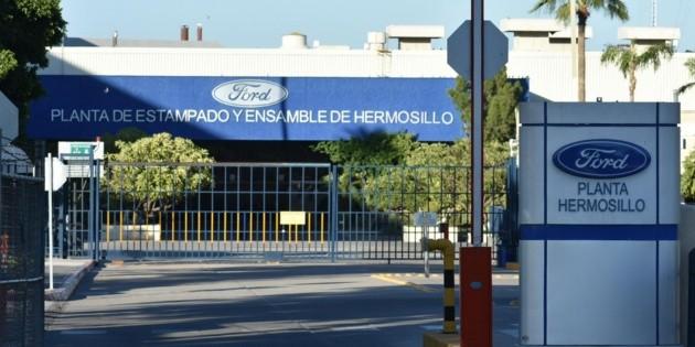 Ford suspenderá producción el viernes en planta de Hermosillo