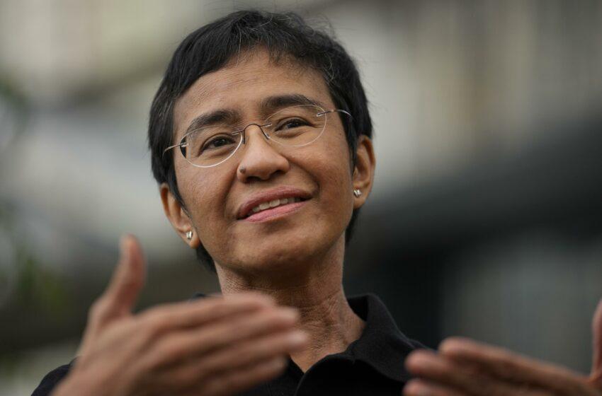 Filipinas felicita tarde a periodista por Nobel de la Paz