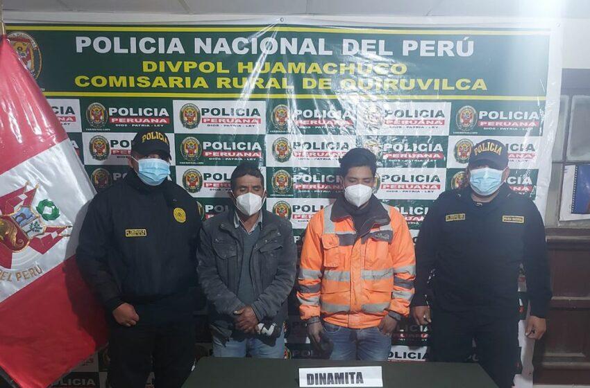 La Libertad: detienen a personas con cartuchos de dinamita cuyo destino sería la minería …
