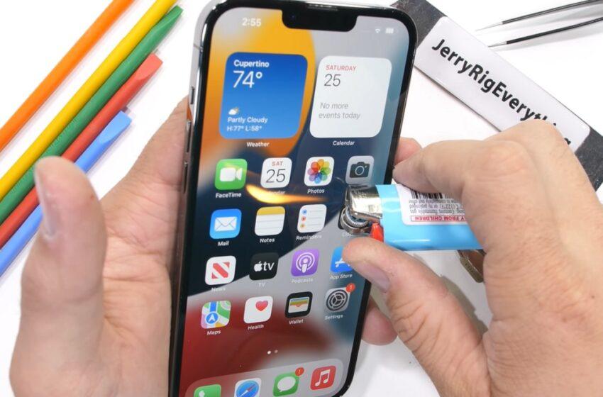 El test de resistencia a arañazos y fuego del iPhone 13 Pro Max, ¿tan robusto como parece?