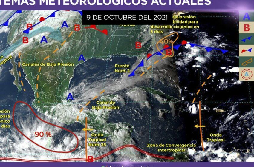 Clima en México 9 de octubre: Lluvias por canal de baja presión – TV Azteca
